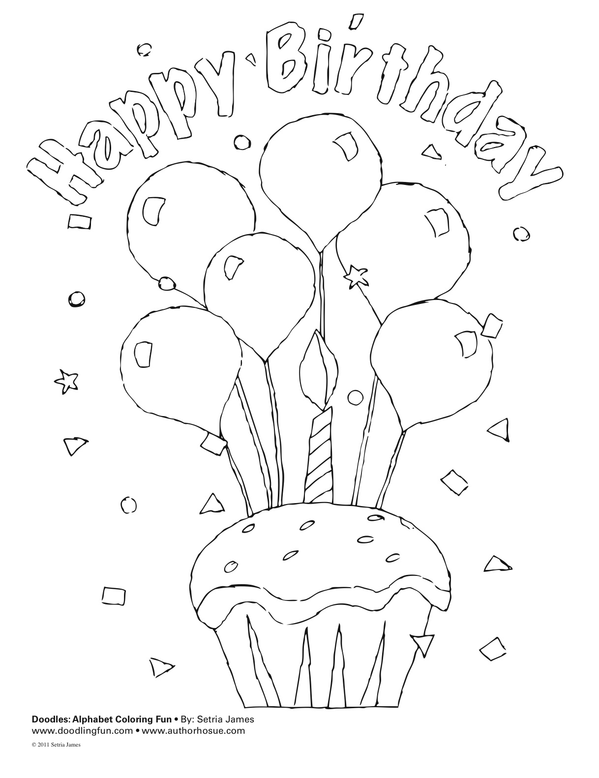 Birthday Wishes Coloring Sheet Template Coloring Pages