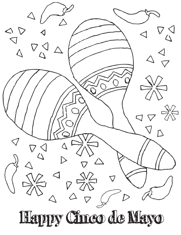 Gallery For gt Coloring Pages Cinco De Mayo