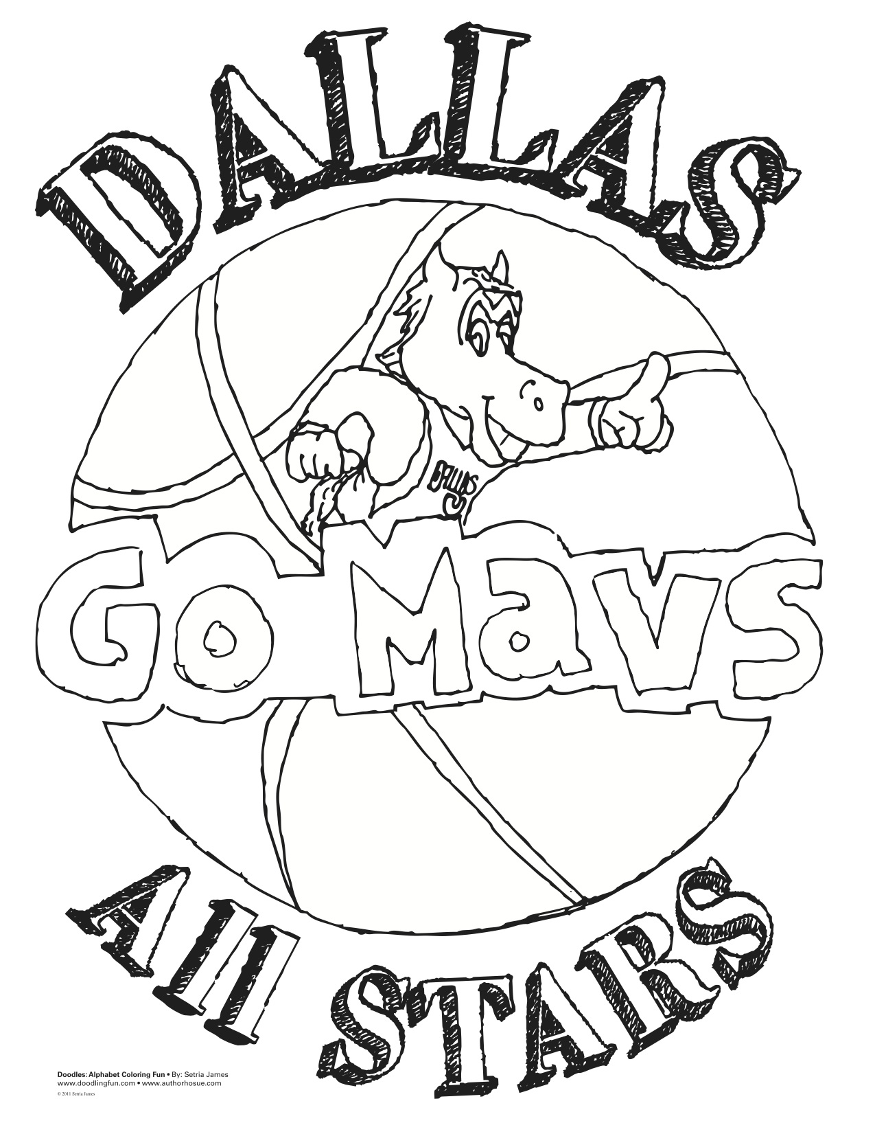 Dallas Stars Coloring Pages