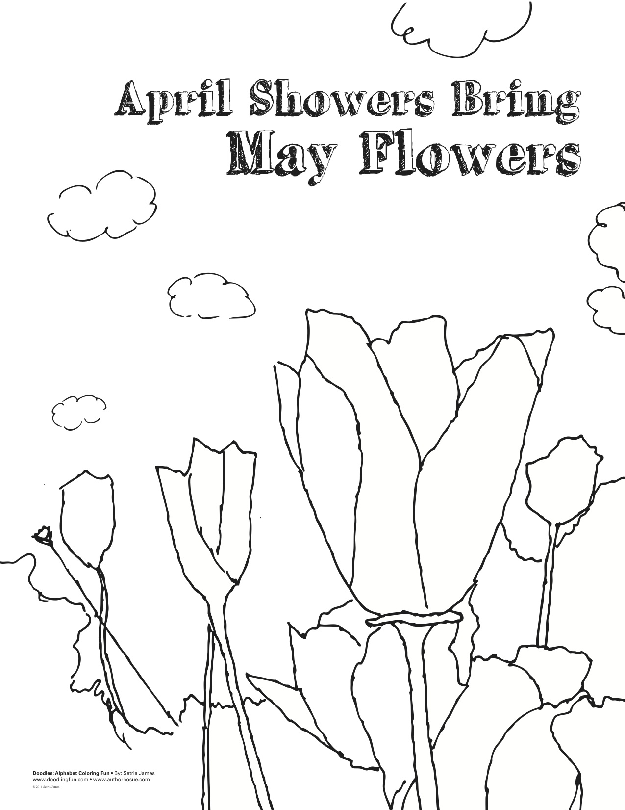 april showers bring colouring pages page 2