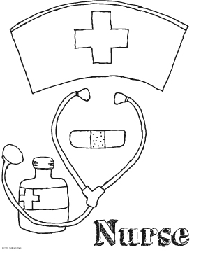 In honor of national nurses week doodles ave for Nurse coloring page