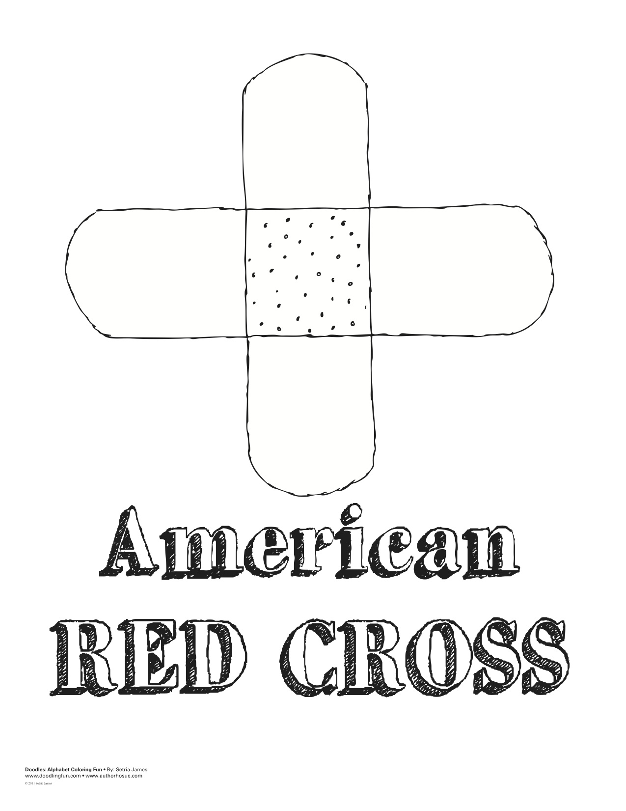 Red Cross Coloring Pages
