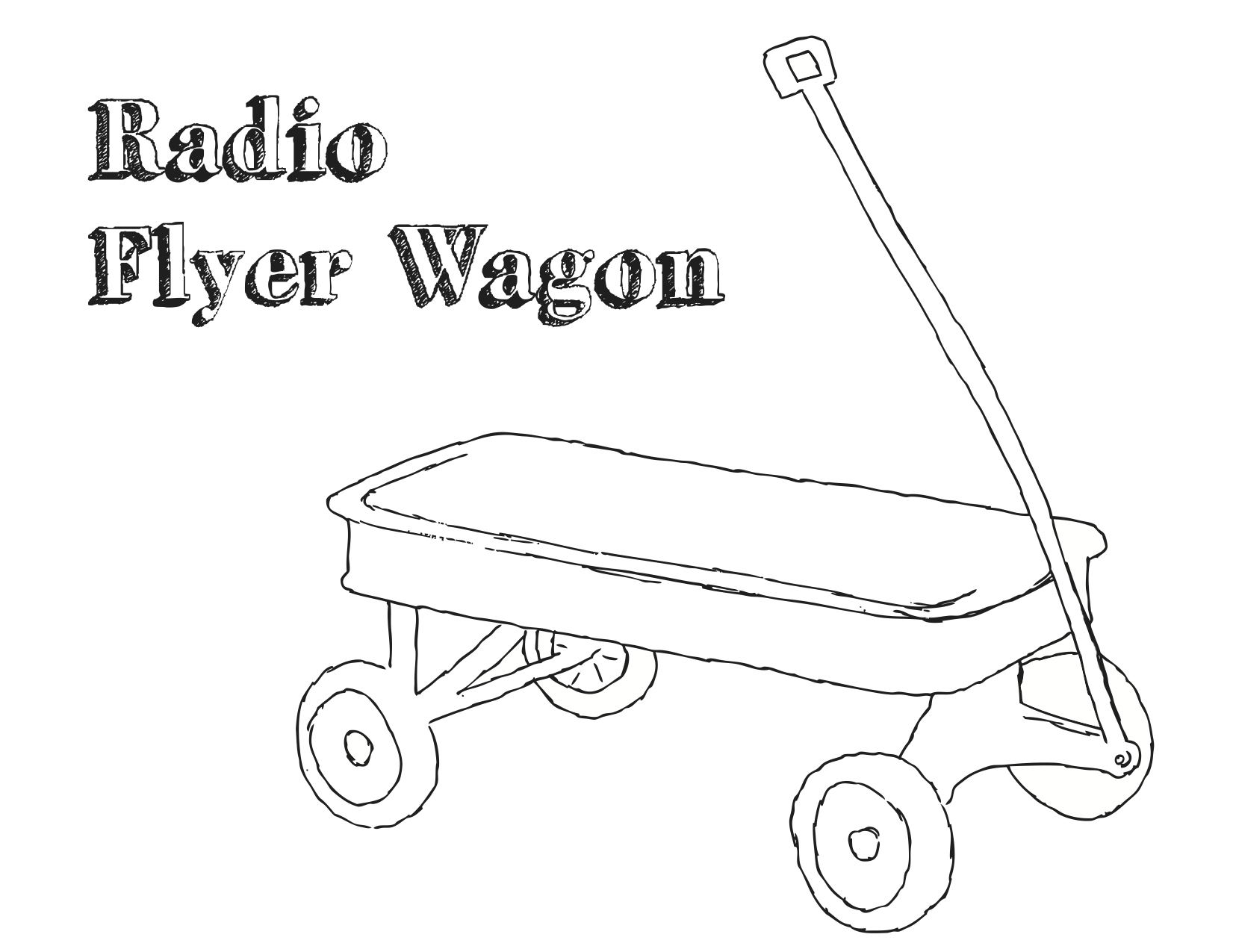 wagon coloring page - red wagon coloring pages murderthestout