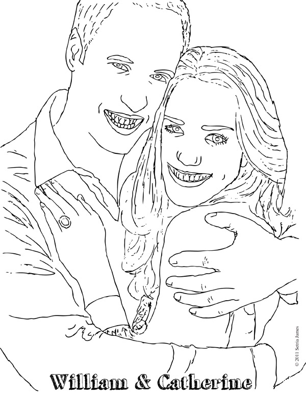 Free Coloring Pages Of Princess Kate