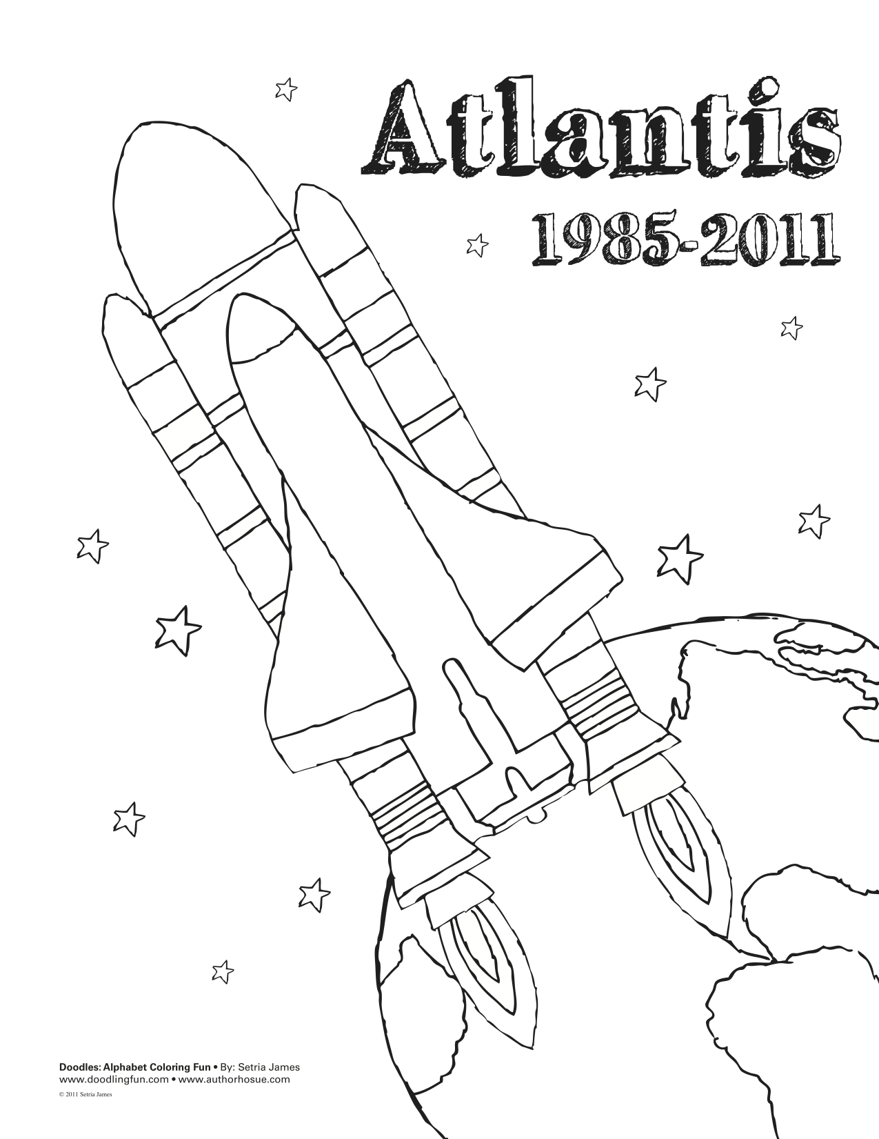awesome space shuttle coloring pages with space shuttle