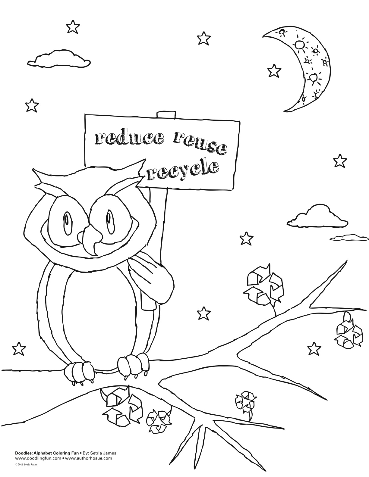Recycle coloring sheet doodles ave for Recycling coloring pages