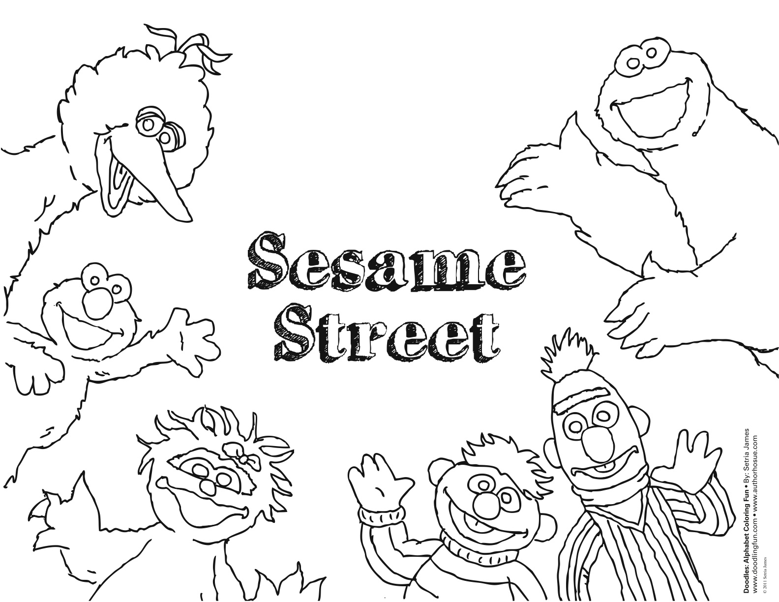 sesame street sign coloring pages - photo#11