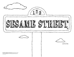 sesame street sign coloring pages - photo#7