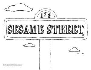 Sesame street doodles doodles ave for Street sign coloring pages