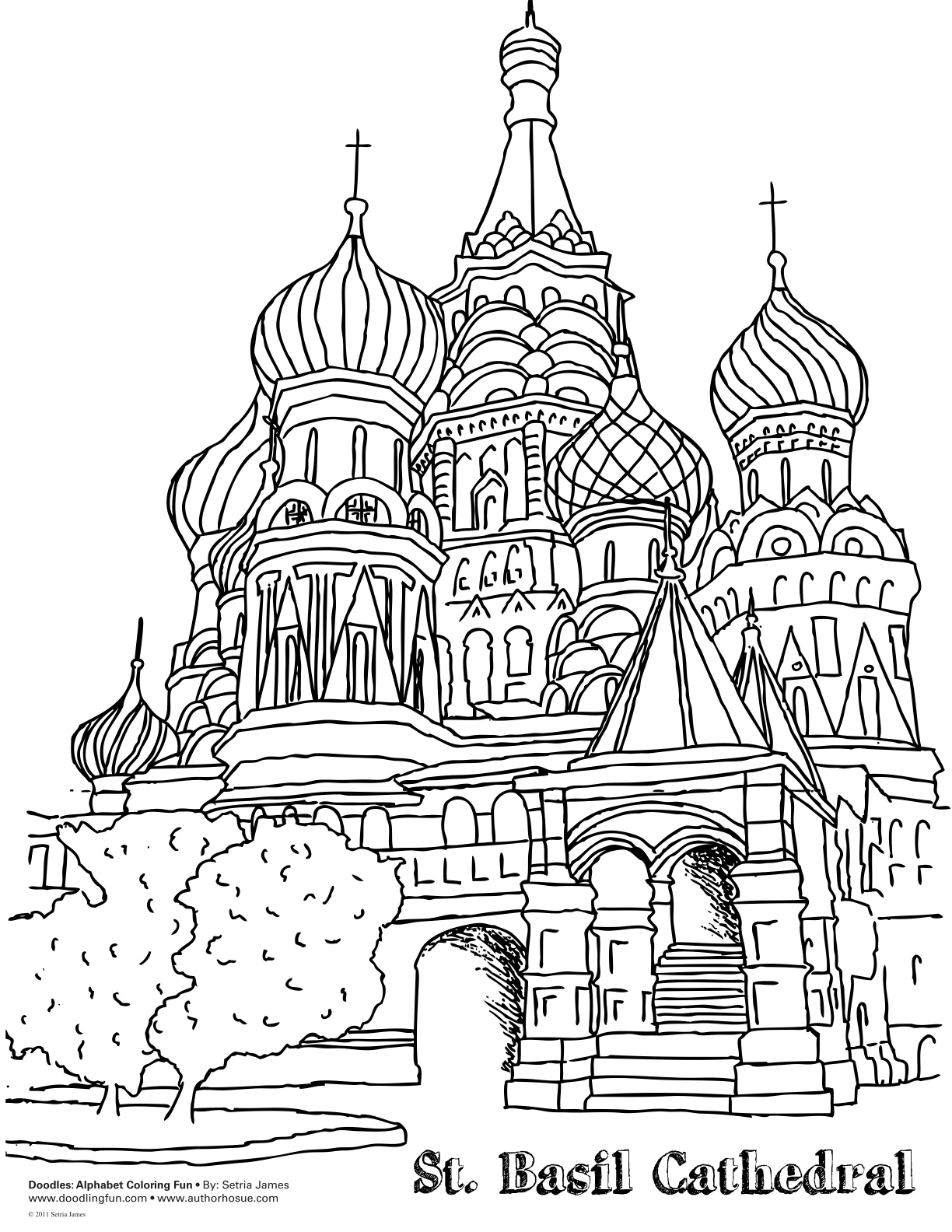 Saint Basil Colouring Pages