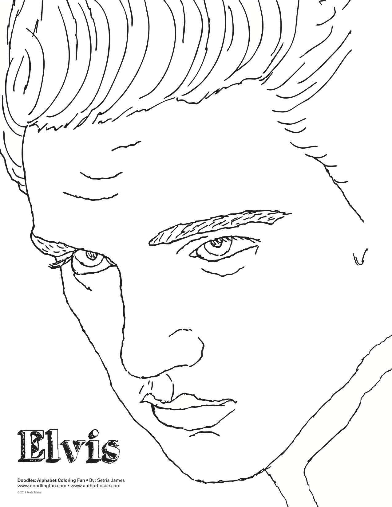 printable coloring elvis presley
