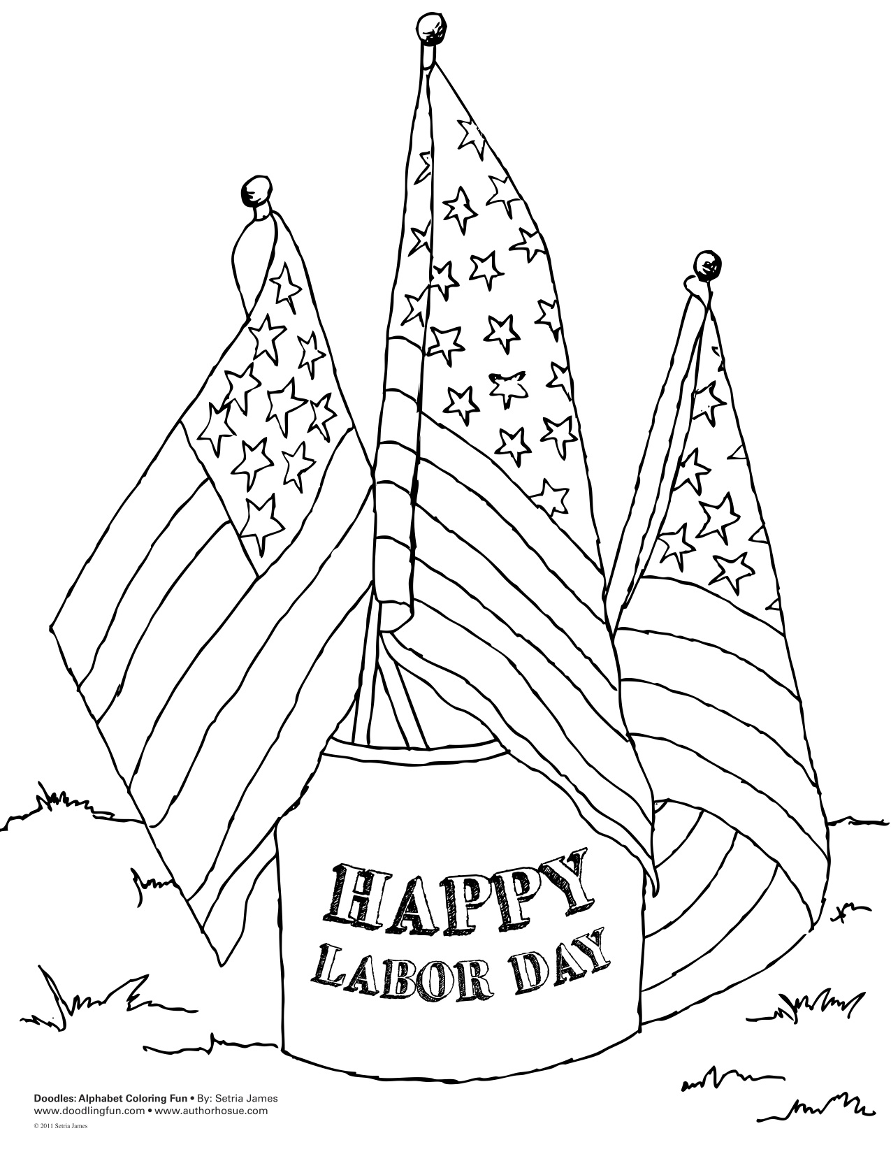 happy labor day coloring pages - photo#1