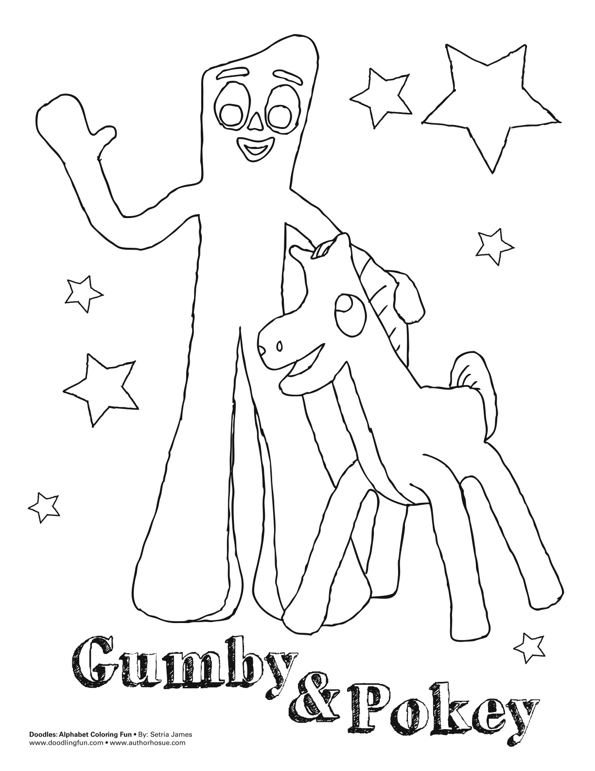 printable gumby coloring pages - photo#2