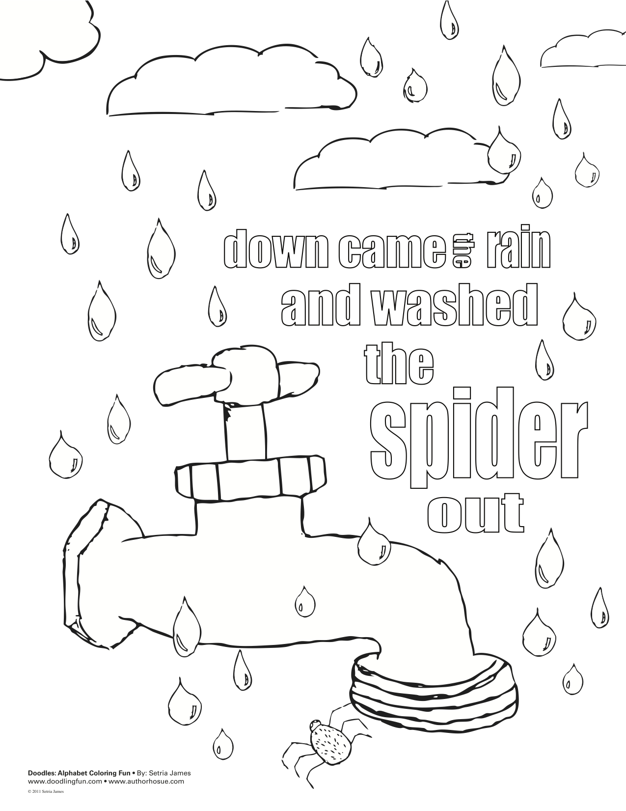 ItsyBitsy Spider Coloring Sheets