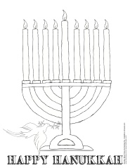 Holiday Coloring Sheets: Christmas, Hanukkah and Kwanzaa