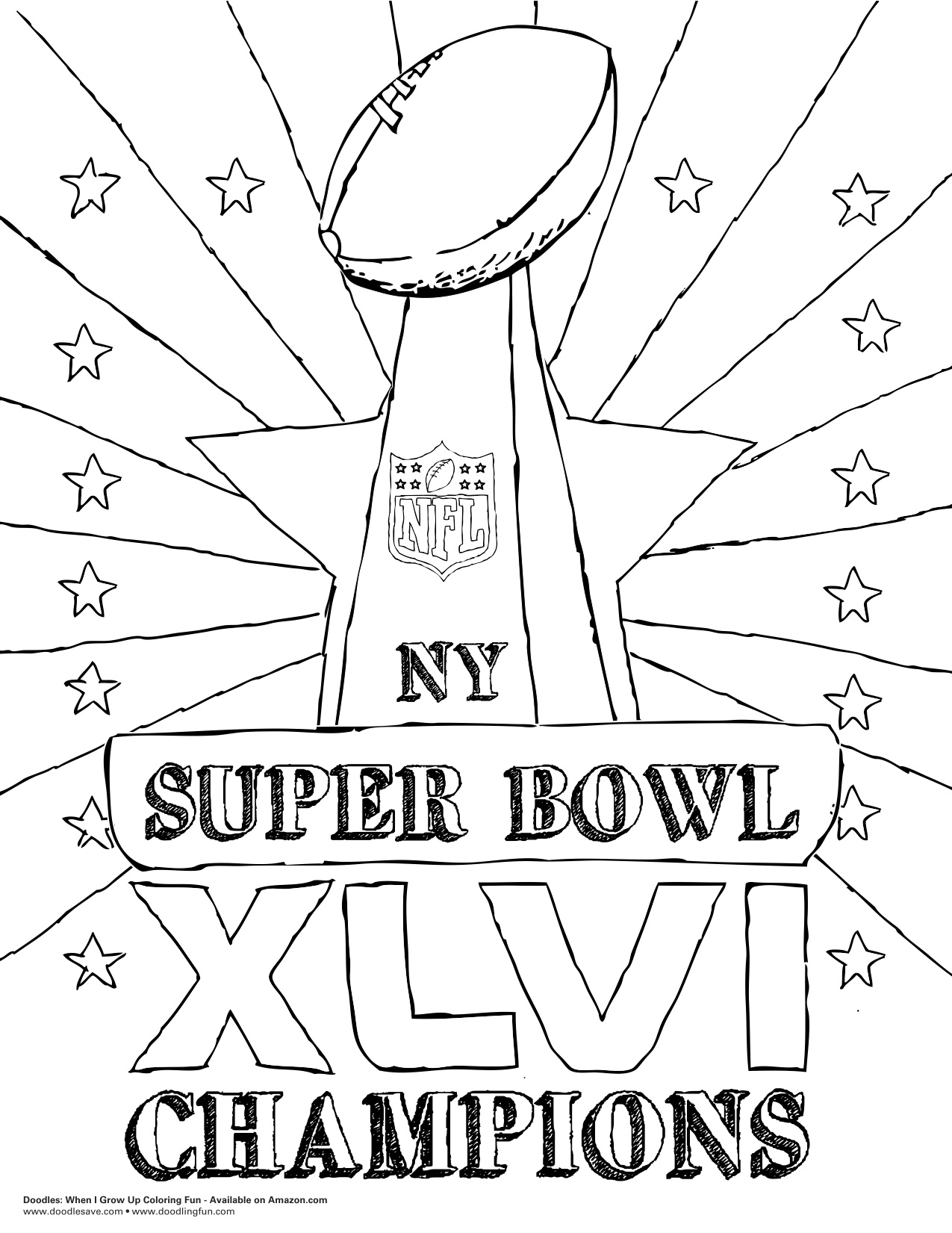super bowl printable coloring pages - photo#21