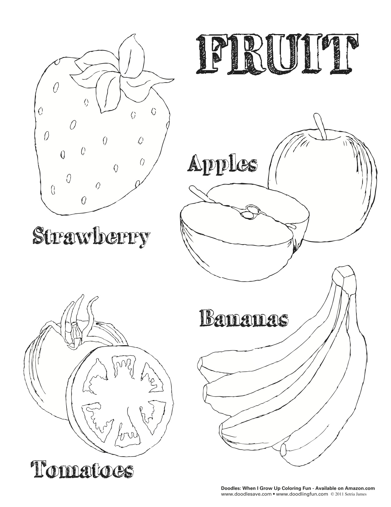 monthly coloring pages - national nutrition month doodles ave