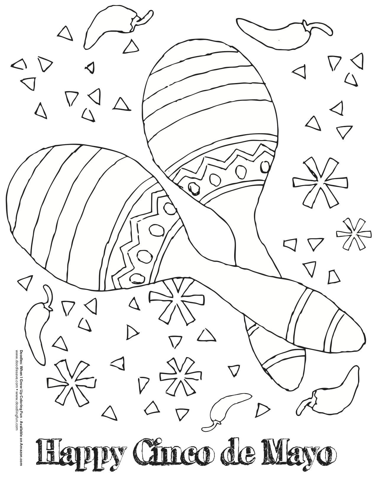 free printable cinco de mayo coloring pages cinco de mayo coloring fun doodles ave
