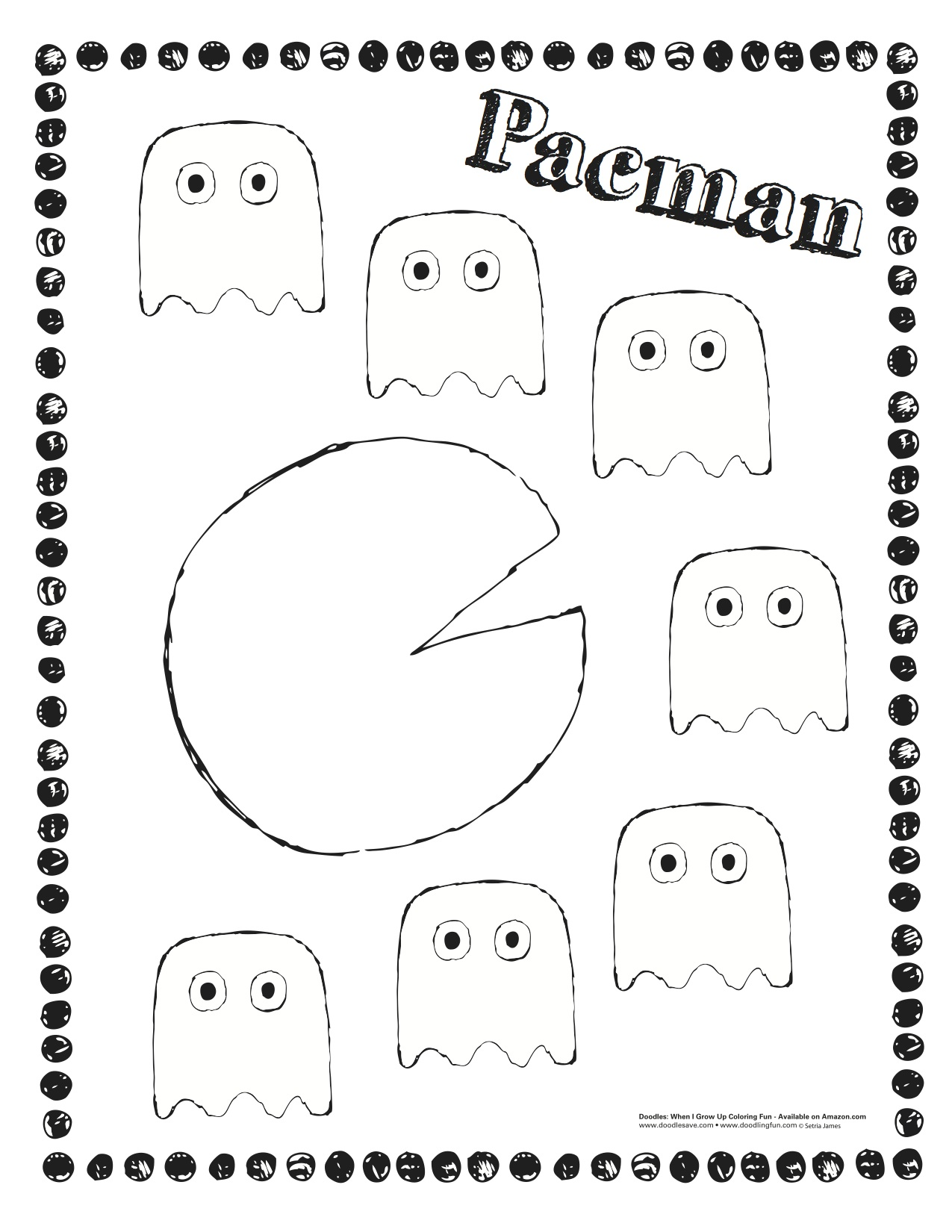 pac man maze coloring pages - photo#4