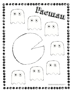 Pac Man Coloring Sheets http://doodlesave.com/tag/pac-man-coloring-sheet/