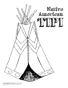 native american tipi coloring pages - photo#22