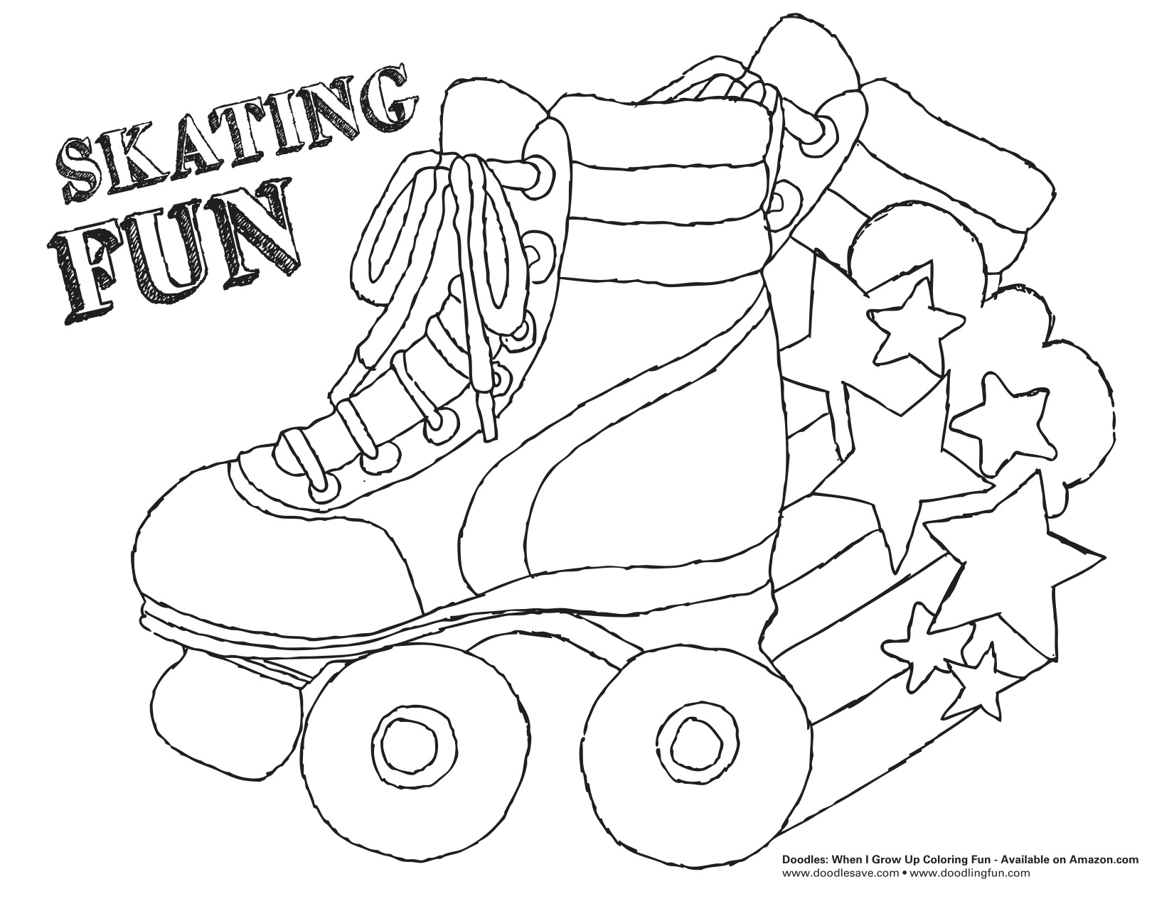 Roller Skating Coloring Pages Skate Parks Coloring Pages