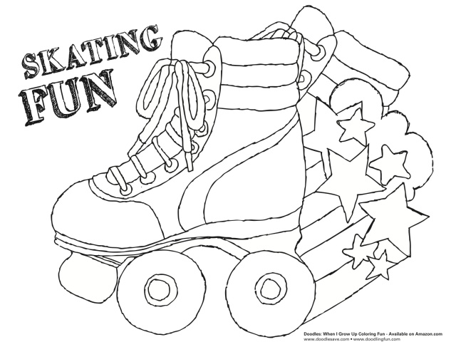 Roller skate coloring pages
