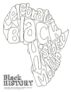 Coloring sheet doodles ave for Black history printable coloring pages