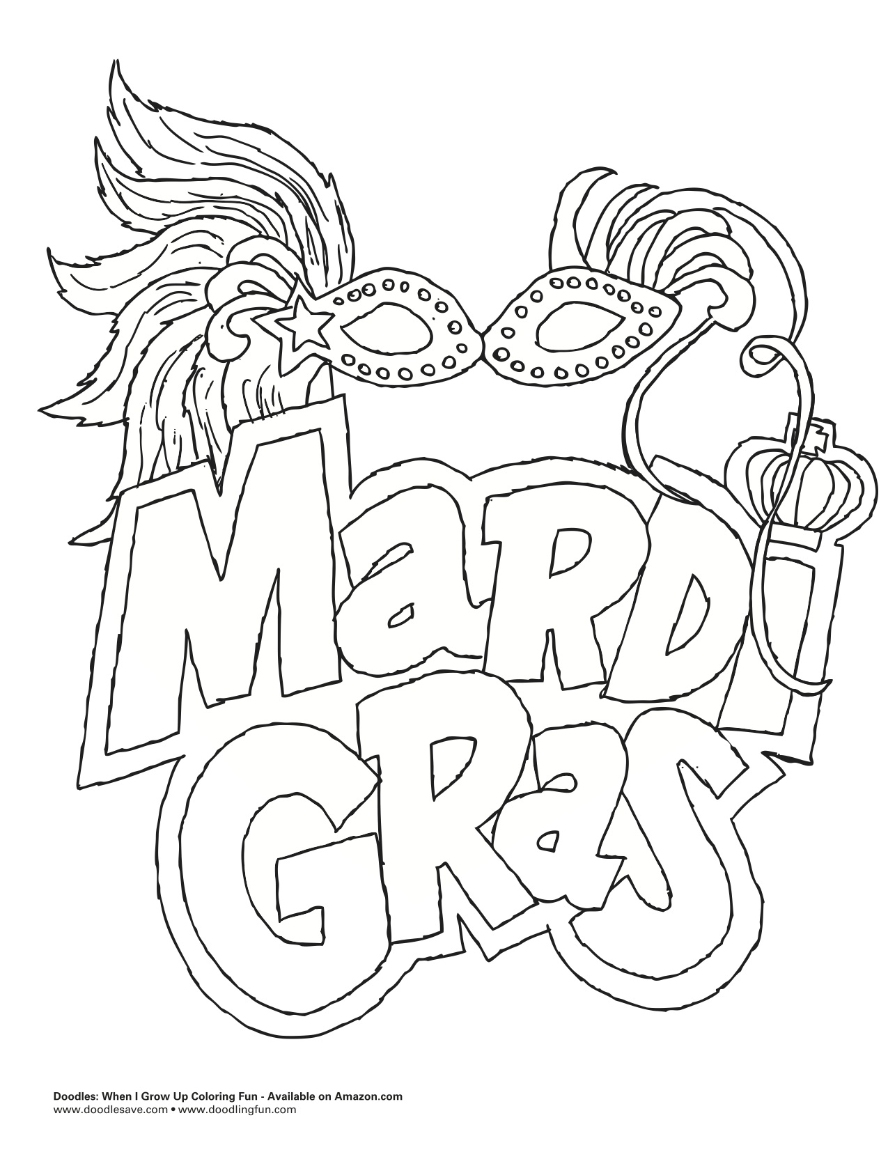 Mardi Gras Doodles Ave