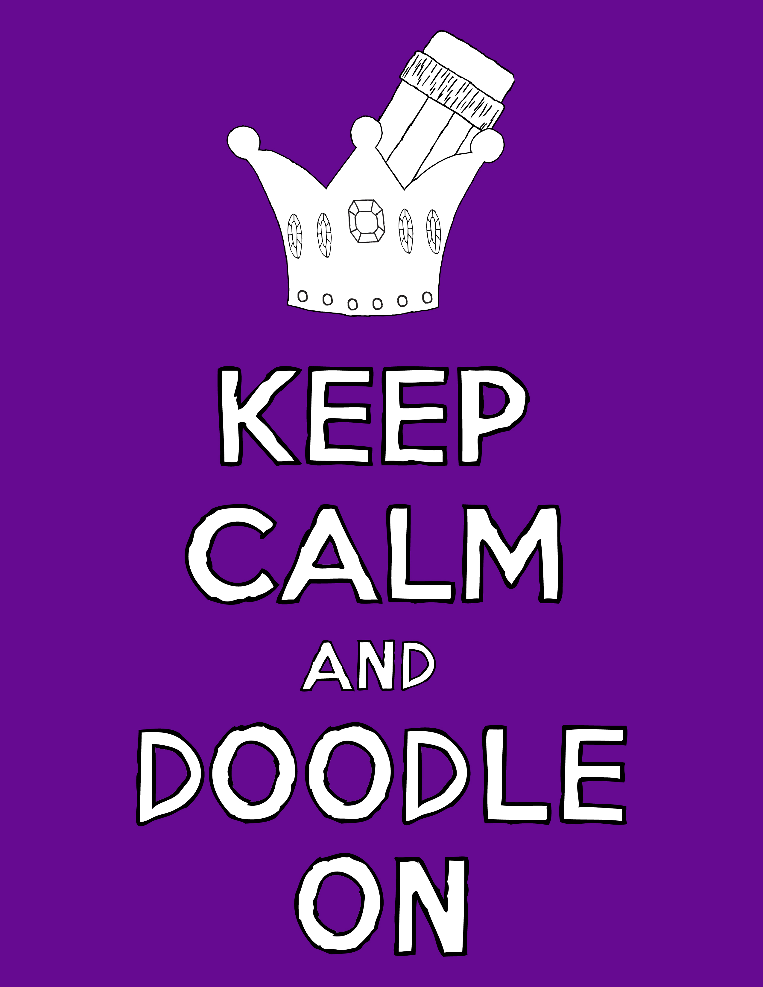 Keep Calm Coloring Pages