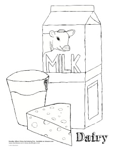 dairy products coloring pages - photo#10