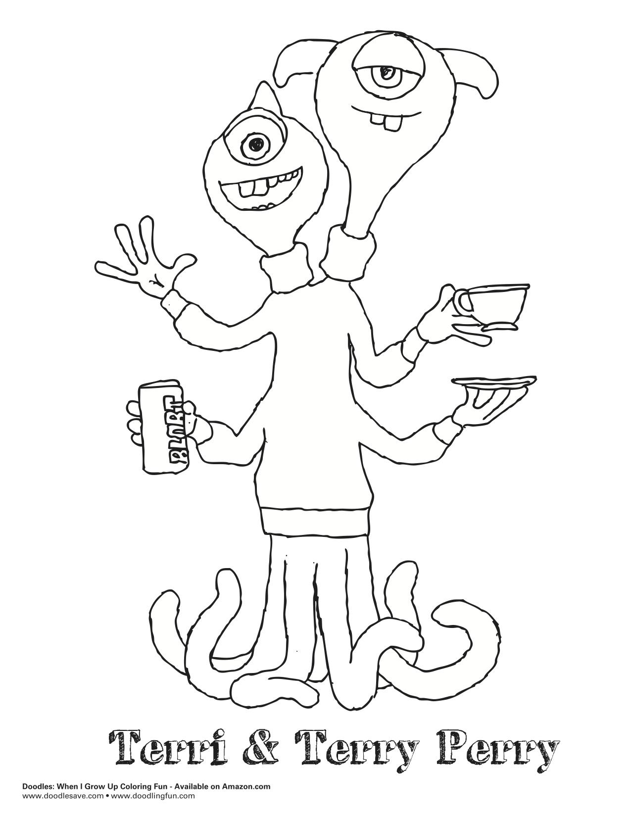 Monsters University Doodles Doodles Ave