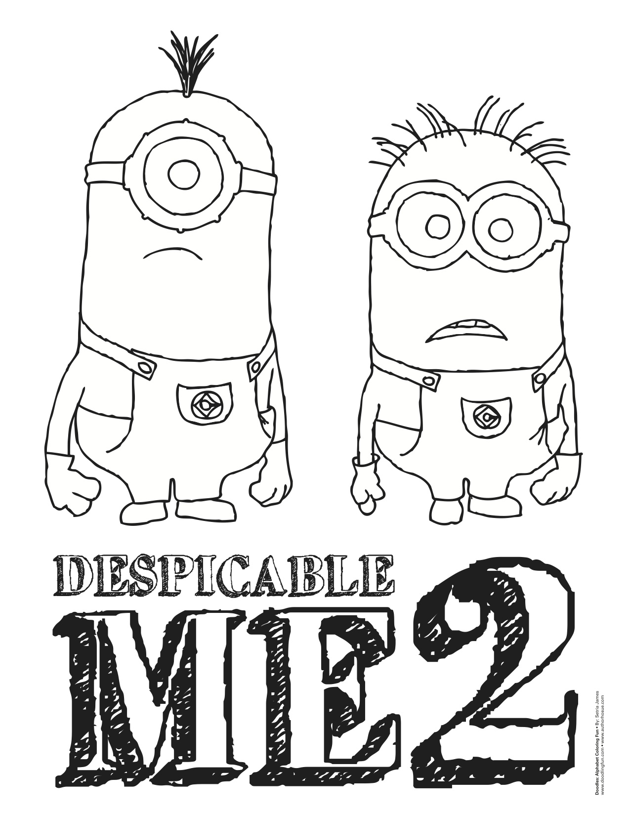 despicable me two coloring pages - photo#27
