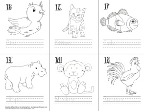 Word-Image-Penmanship Activity_Animals