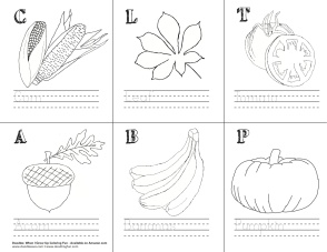 Word-Image-Penmanship Activity_Nature
