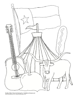 texas capitol coloring pages - photo#29
