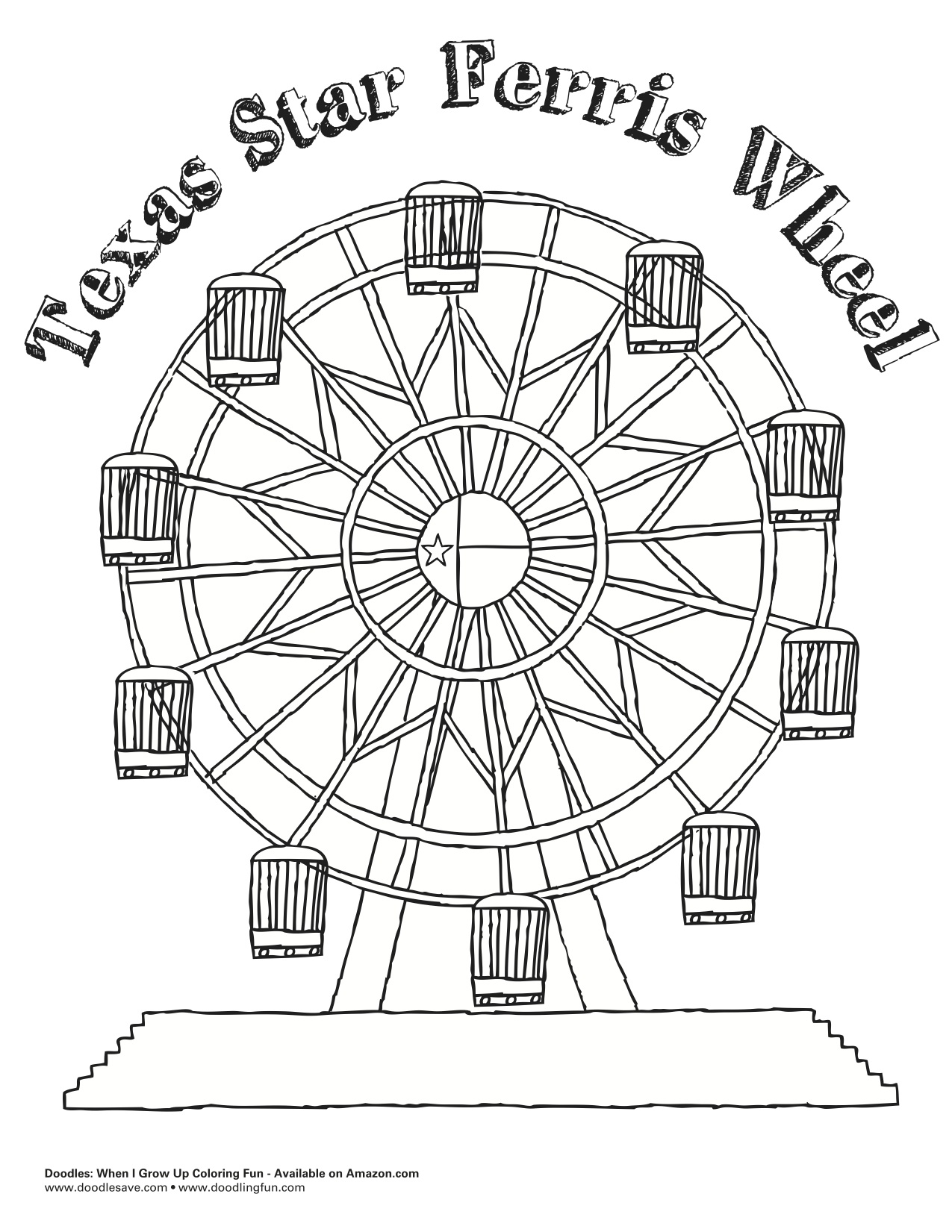 coloring pages of ferris wheel - photo #31