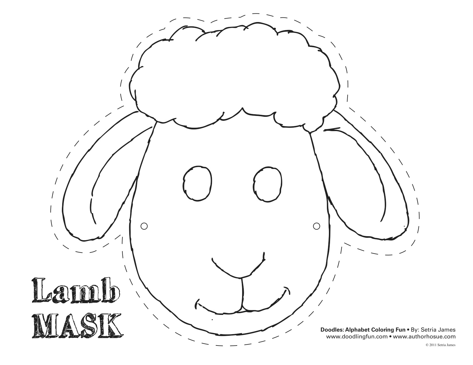 Sheep mask mask template and sheep on pinterest for Lamb cut out template