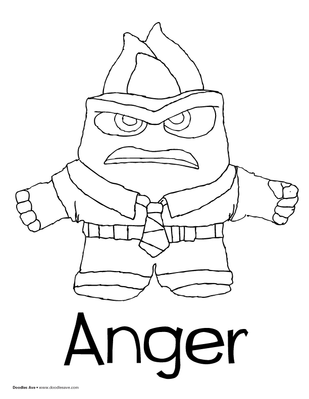 Coloring Pages Of Anger From Inside Out Doodles Ave