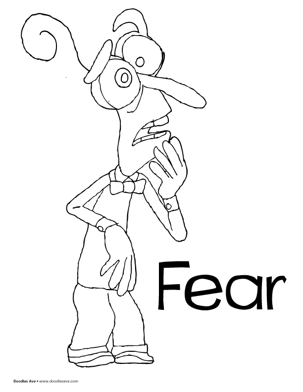 Doodles Ave Inside Out Coloring Page Fear