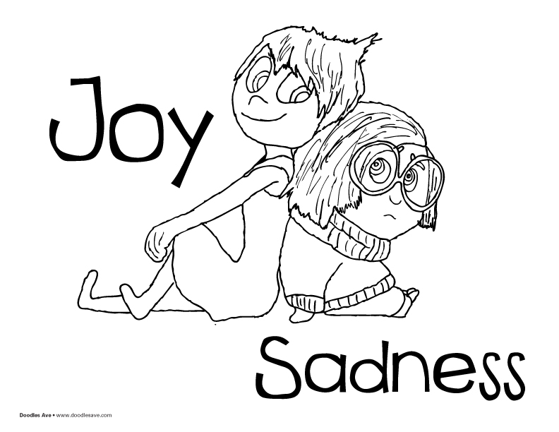 Inside Out coloring pages for kids
