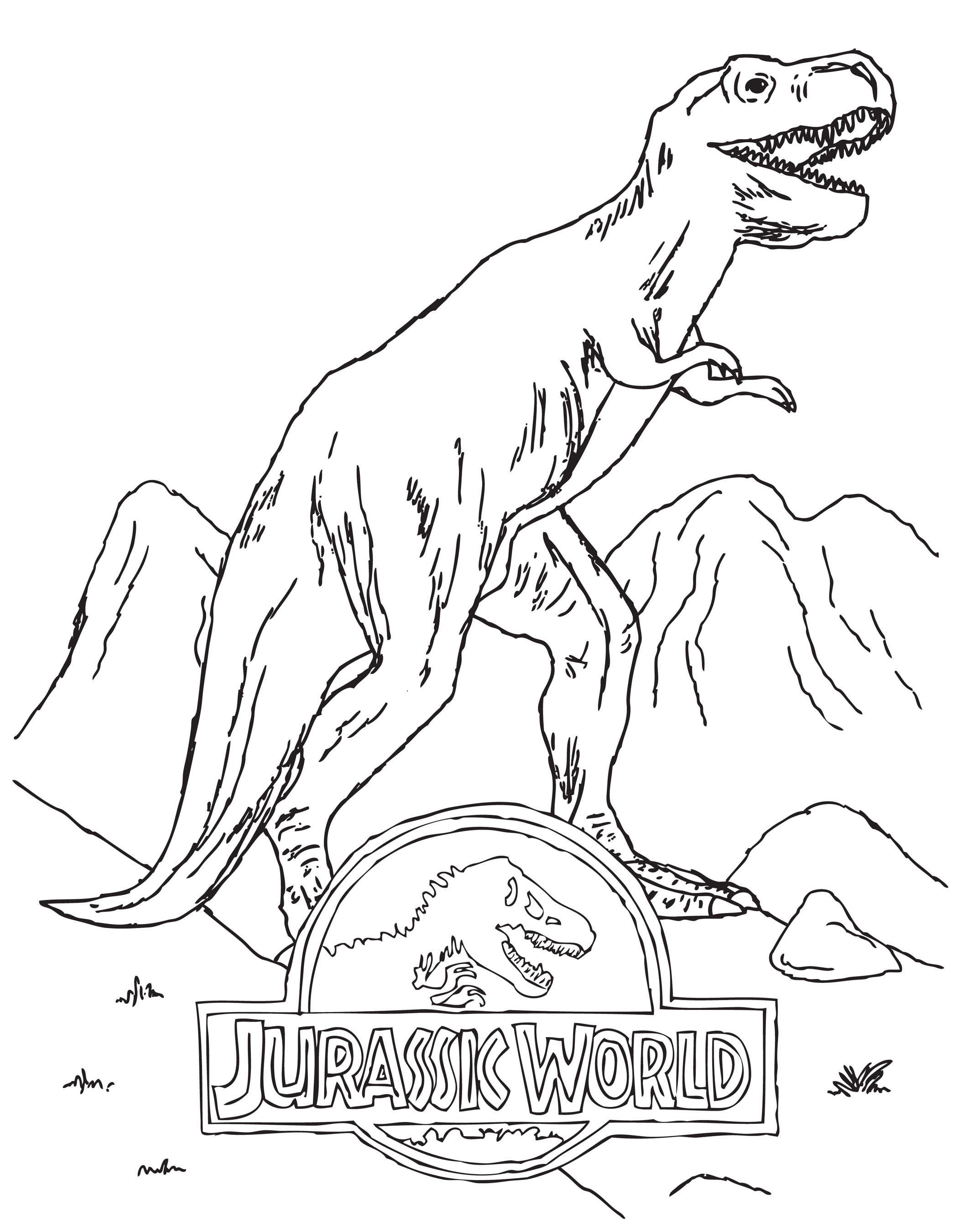 Jurassic World Dinosaur Coloring Pages Coloring Pages