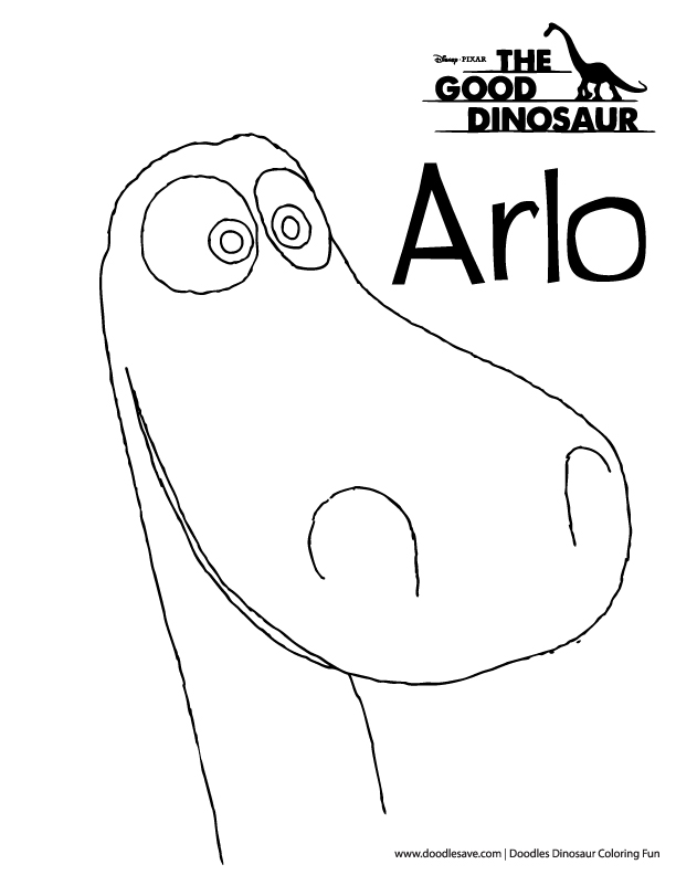 the good dinosaur coloring pages - doodles ave good dinosaur arlo coloring page 5