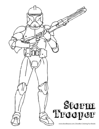 storm trooper coloring pages printable - star wars the force awakens coloring sheets doodles ave