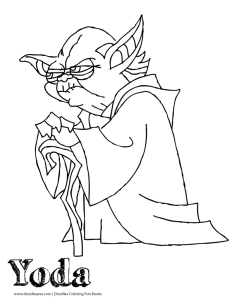 Yoda coloring page doodles ave for Yoda coloring pages