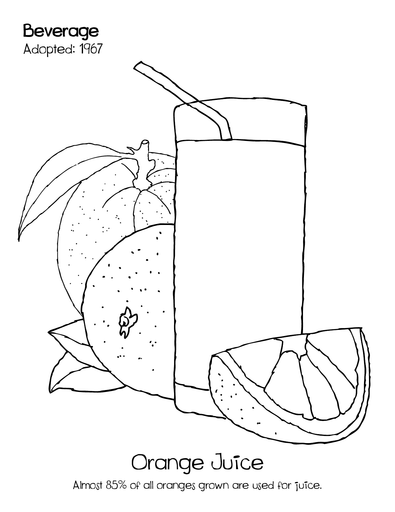 orange juice coloring pages - photo#14