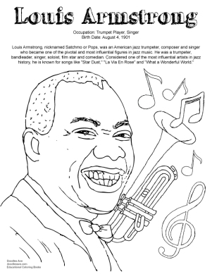 Shirley Chisholm Coloring Page Doodles Ave Louis Armstrong Coloring Page