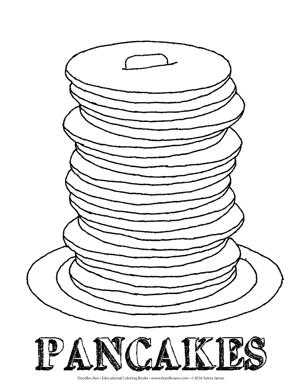 pancakes coloring pages - photo#17