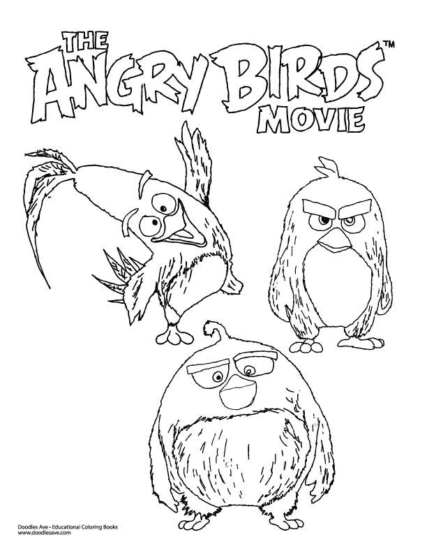 free birds coloring pages movie - photo#11