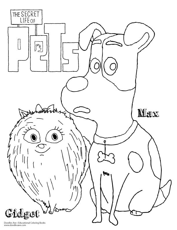 the secret life of pets coloring pages - the secret life of pets doodles ave